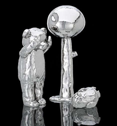 Metallic Cartoon Sculptures