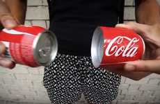 Splitting Soda Packaging - The Coca-Cola Sharing Can is a Coke Can That Spreads the Love