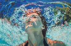 Bright Underwater Pool Paintings
