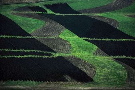 Peculiar Aerial Field Photography
