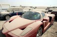 Abandoned Sports Car Parking Lots - Luxury Vehicles Are Deserted Amidst Economic Problems in Dubai