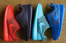 Vibrantly Exotic Sneakers - The Nike Roshe Run Safari Pack are Colorfully Textured