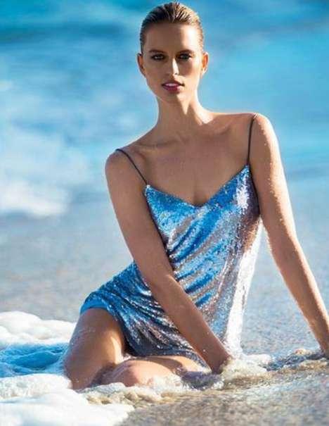 Metallic Beach-Ready Fashion