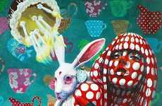 Surreal Animal-Infused Art - These Colorful Paintings by Sonja Tines are Like a Visual Acid Trip