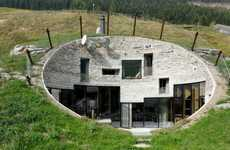 Luxurious Hill-Covered Houses - The Villa Vals Switzerland Vacation Homes are Inside the Alps