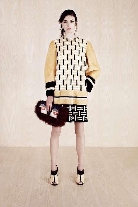 Sophisticated Mosaic-Like Fashion
