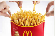 Giant French Fry Orders - The Japan McDonald's Mega Potato Could Feed an Army
