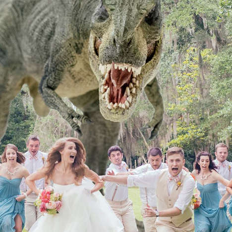 Dinosaur Massacre Wedding Photography - Quinn Miller Adds a Little Jurassic Park Flair to his Photos