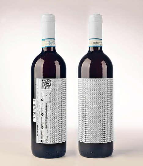 Achromatic Patterned Wine Bottles