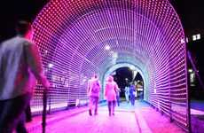 Social Media Tunnel Installations - The 'Hundreds and Thousands' Tunnel Responds to Hope
