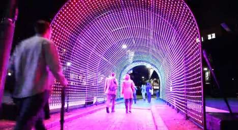 Social Media Tunnel Installations