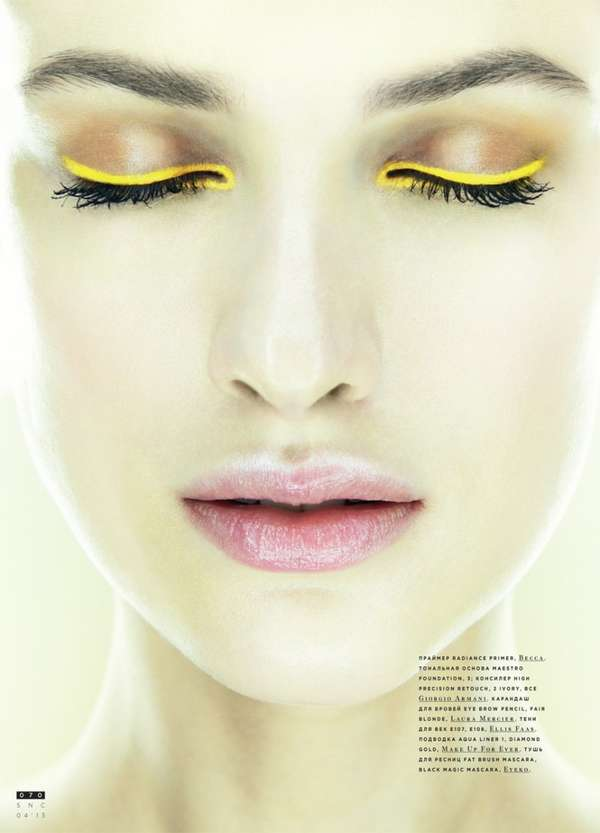 33 Neon Eyeshadow Editorials