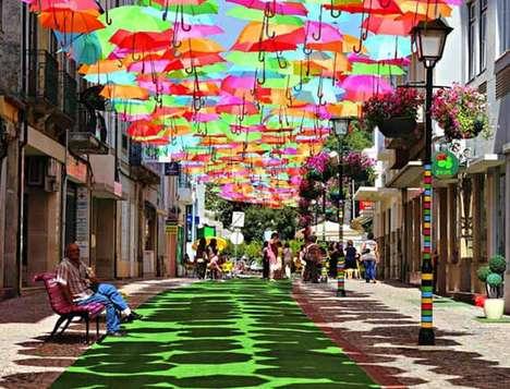 Umbrella-Roofed Shopping Malls