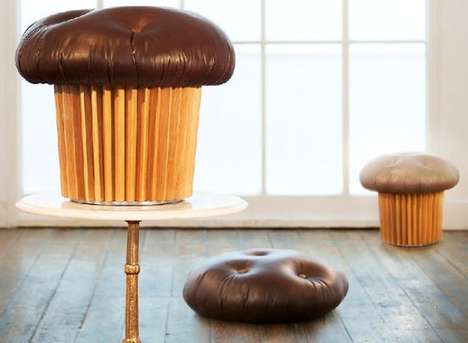 The Mini Muffin Pouffe Lets You Relax On Top of Your Favorite Baked Goods