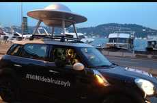 Alien-Costumed Car Campaigns - Mini Cooper's Silly Marketing Campaign Has Alien-Costumed Drivers