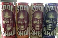 Supersized Star-Branded Soda - The 'Soda Shaq' Line Places Shaquille O'Neal's Face on Your Drink