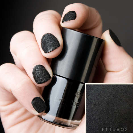Opulent Leather-Like Polish - Nail Suede by Firebox Gives a Touch of Fabric to Your Fingertips