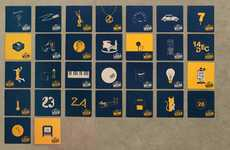 Celebratory Coaster Timetables - Discover Fun Reasons to Drink Every Day with the Corona Calendar