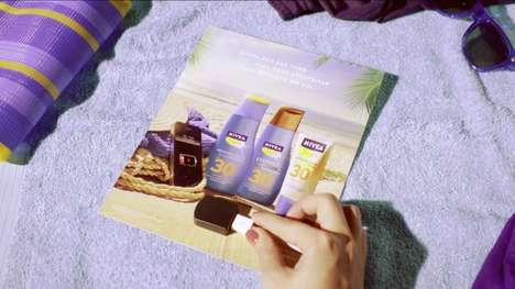 Solar-Powered Print Ads