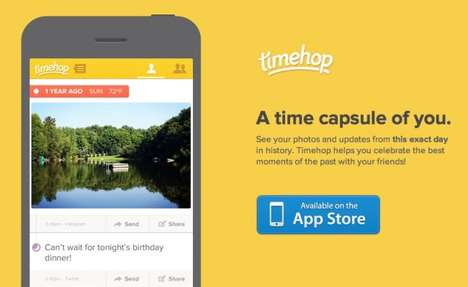 Nostalgic Time-Travelling Apps - The Timehop App Makes a Social Media Time Capsule of Yourself