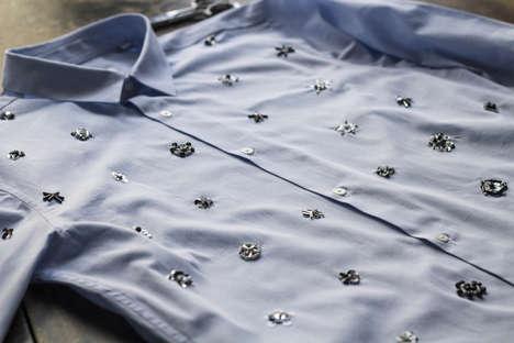 DIY Bead-Embellished Blouses