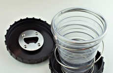 Collapsible Drinking Glasses - The Cup Puck is Perfect for Stashing in a Bag or Even in Your Pocket