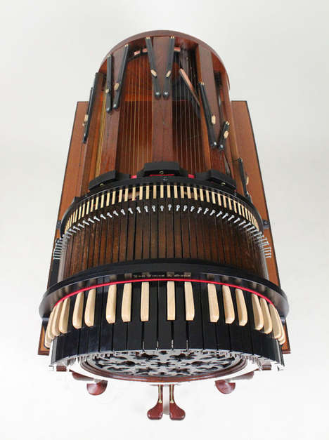 The Wheelharp is a Harp Instrument that Replicates an Orchestra