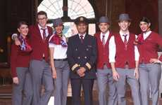 Relaxed Flight Attendant Attire - The Air Canada Rouge Uniforms Promote a Leisurely Atmosphere