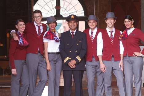 The Air Canada Rouge Uniforms Promote a Leisurely Atmosphere