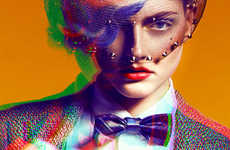 Bright Blurred Fashion Photography - This Blurry and Colorful Fashion Series is Full of Fun
