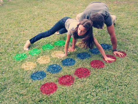 DIY Re-Imagined Retro Games - The DIY Lawn Twister Idea from You + Me is a Throwback to Past Times