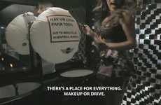 Airbag Pop-Up Prank Ads - MINI Mexico Demonstrates that You Should Never Makeup and Drive