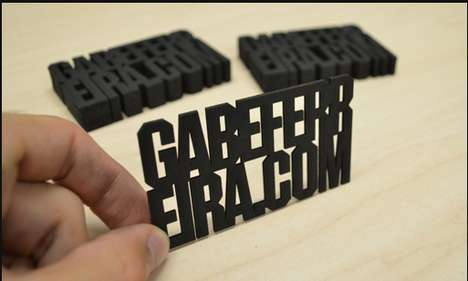 Laser-Cut Business Cards - These Conceptual Cards by Gabe Ferreira are Clean and Precise