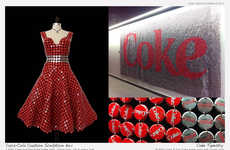Clever Soda Couture - Raymond Waters Has Designed a Coke Tapestry and Bottle Cap Dress