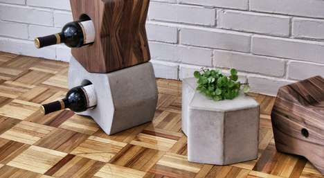 The LITOS Wine Holders by Alberto Villarreal Stack Elegantly