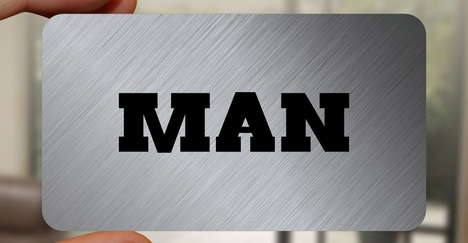 Masculinity Affirming Business Cards - These Man Cards Prevent Manliness from Being Questioned