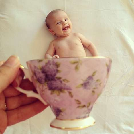 Toddler Tea Cup Photography - Babymugging by Mommyshorts Turns Any Parent into Anne Geddes