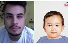 Inner Child-Capturing Apps - The 'Baby and Me' App Scans Your Face to Show You Your Younger Self