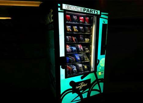 Bicycle-Repairing Vending Machines - Cyclists Can Buy Bike Parts Using Express Biker's Kiosks