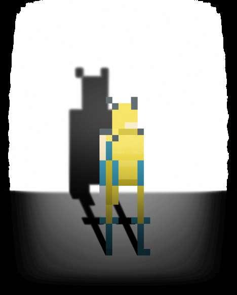 Pixelated Superhero Portraits