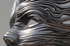 Flowing Organic Steel Sculptures - The 'Flow' Collection Transforms Steel into Life-Like Sculptures