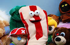 Animatronic Bacon Plushies - The Talking 'My First Bacon' Teaches Kids the Value of Pork Products