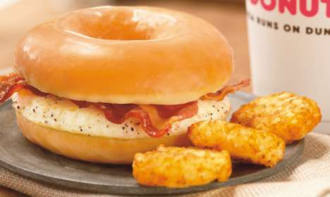 Dunkin' Donuts's New Donut Breakfast Sandwich is Sweet and Savory