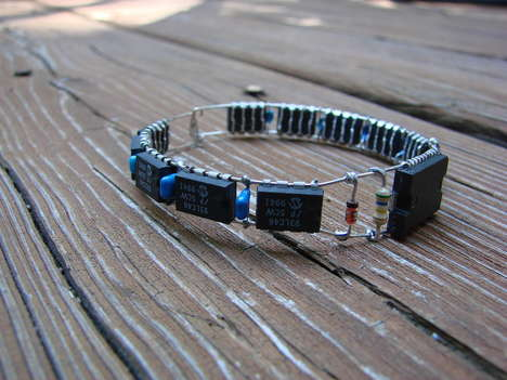 DIY Scrap Electronic Bracelets - This Neat DIY Electronic Bracelet is Great for Gadget Loving Girls