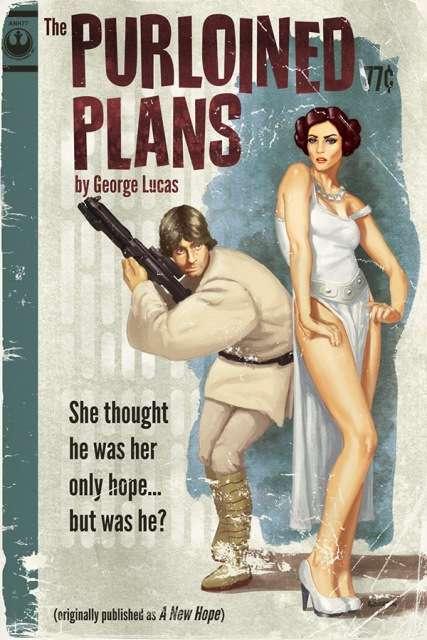 Pulpy Sci-Fi Book Art
