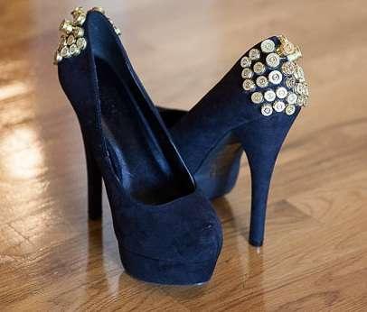 Bullet-Encrusted Heels