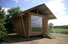Straw-Stuffed Eco Cabins
