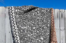 Calligraphy-Covered Blankets - The Calligraphy Blanket by Drury Brennan has a Secret Message