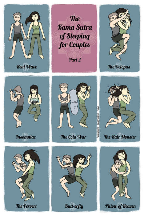 Comedic Couple Bed Positions