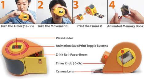 Miniature GIF Printing Cameras